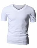 Camiseta Branca c/ gola V